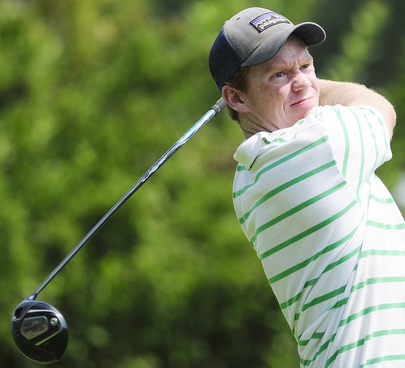 Johnny Hayes IV of Prouts Neck Country Club watches a drive Friday during his victory in the final round of the Match Play Championship.