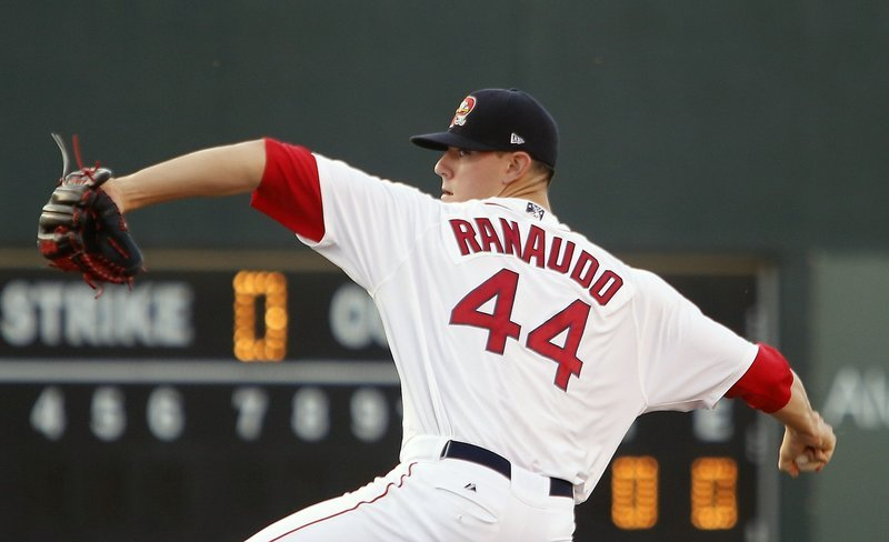 Anthony Ranaudo was sent from the Portland Sea Dogs to the Red Sox's spring-training home in Fort Myers, Fla., to rehab a tired arm. He may return to pitch in a winter league.