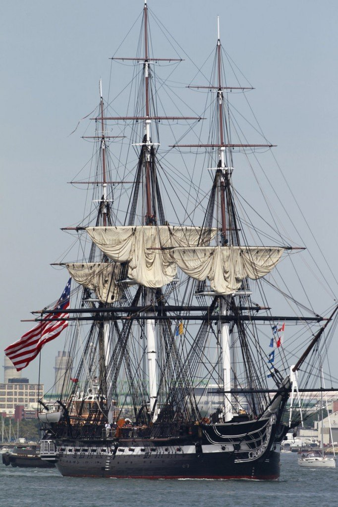 """Old Ironsides"" commemorates the 200th anniversary of its victory over the HMS Guerriere during the War of 1812."