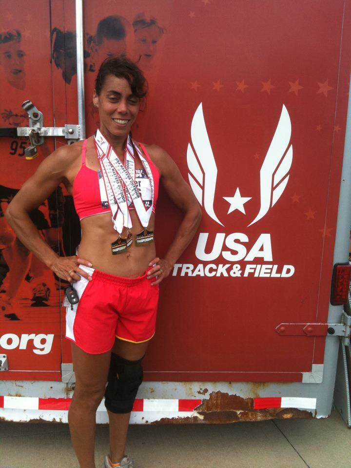 Susan Wiemer of Freeport was a multiple medal winner at the USA Masters Track and Field Championships, including a victory in the shot put in the 45-49 age group.