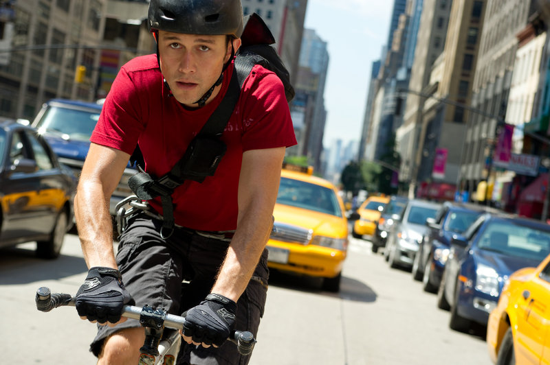 """Joseph Gordon-Levitt plays a courier who is handed a dangerous delivery in """"Premium Rush."""""""