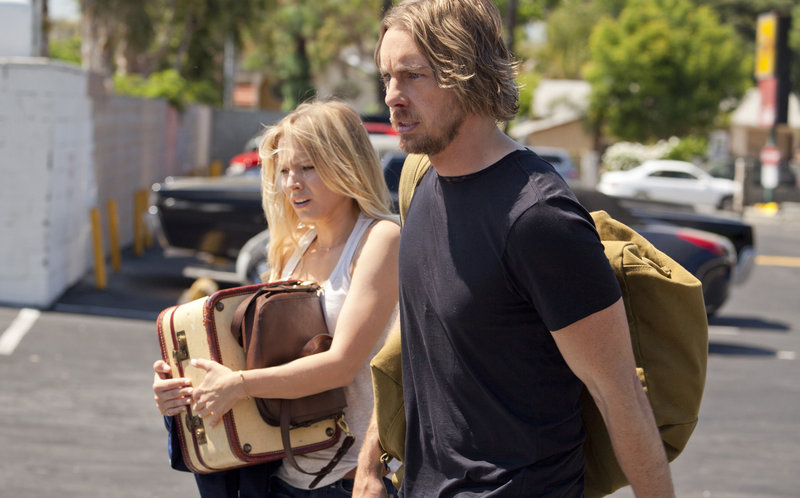 "Kristen Bell and Dax Shepard team up in the comedy ""Hit and Run,"" which Shepard wrote and co-directed."