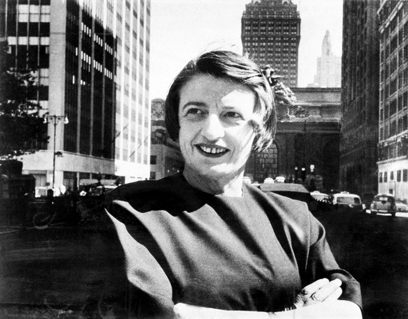 Russian-born novelist Ayn Rand in Manhattan in 1962. Heartless arch-villian or triumphant free-market oracle, she is under a large spotlight as economic muse to U.S. Rep. Paul Ryan.