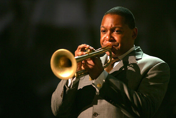 Jazz master Wynton Marsalis performs with the Jazz at Lincoln Center Orchestra Jan. 25 at Merrill Auditorium in Portland.
