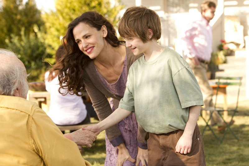 "Jennifer Garner and CJ Adams in ""The Odd Life of Timothy Green."""