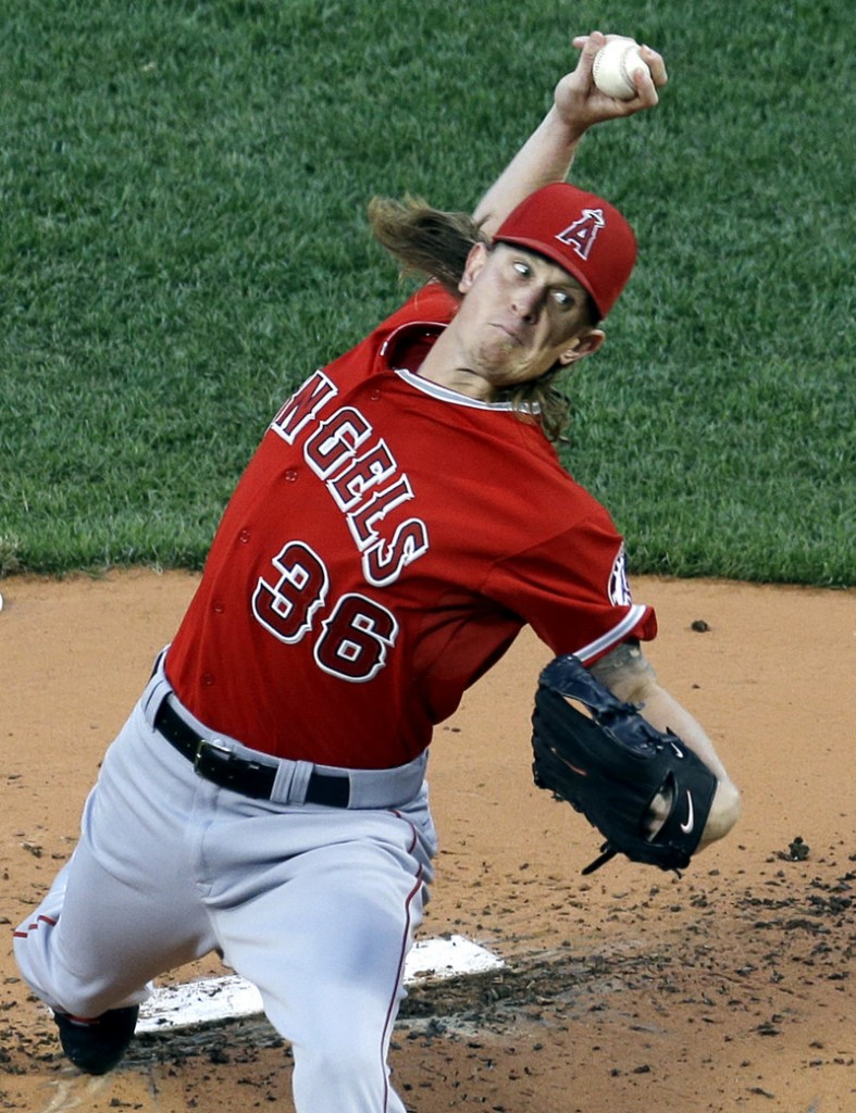Jered Weaver of the Los Angeles Angels has a history of problems at Fenway Park, but this time he pitched, well, like he does against the rest of the American League.