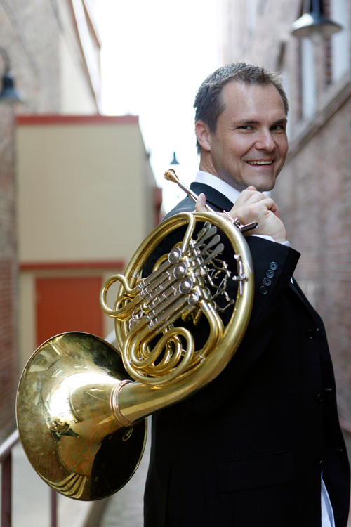 "Horn player Jeff Nelsen performs in the ""Strauss and Stravinsky"" Sunday Classical show on Nov. 18."
