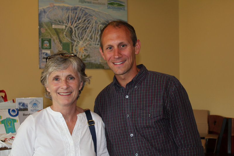 Cancer Community Center board members and cancer survivors Laurie Hyndman and Stephen Wells.