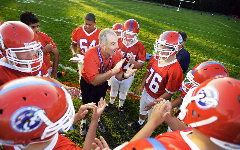 Jim Hersom has been there, done that in high school football coaching, including leading Edward Little to the Class A state championship game in 2002. Now he's ready for a new challenge, taking over a less-than-successful program at Gray-New Gloucester.