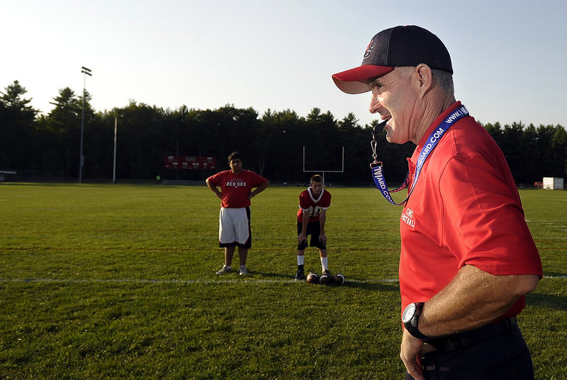 Jim Hersom not only has the experience to guide Gray-New Gloucester High in football, but his twin brother and father also have successful coaching resumes.