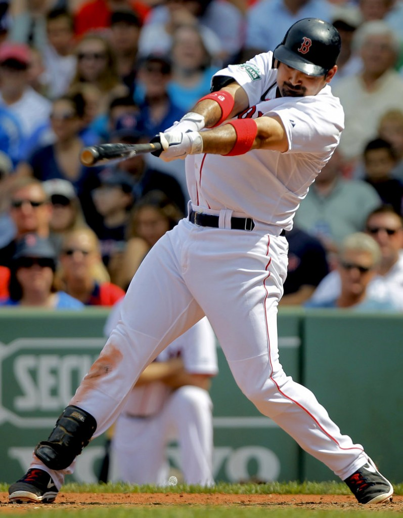 Adrian Gonzalez continues to be a .300 hitter for the Boston Red Sox, but his power simply isn't what the Red Sox hoped they would receive. He has only 15 home runs this season.