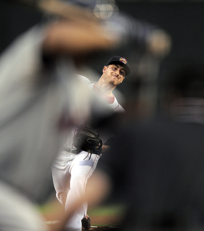 Portland's Brandon Workman allowed only four hits over seven innings Friday night in Portland, as the streaking Sea Dogs beat Binghamton 4-3 to run their record to 29-12 since the All-Star break.