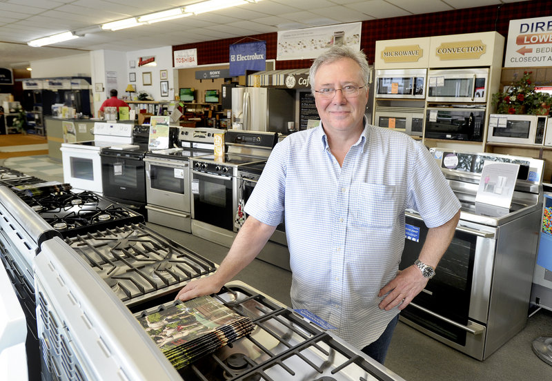Tim Seavey, who owns Seavey's appliance store on Roosevelt Trail in Windham, says he is thinking of expanding his business.
