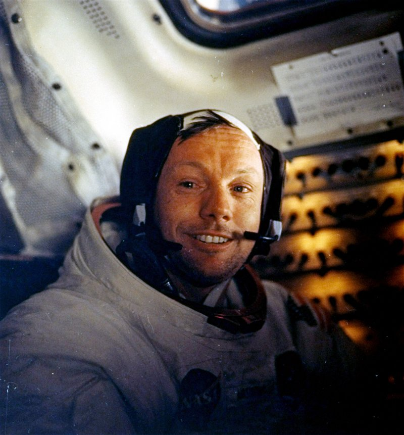 "The career of Neil Armstrong, the first person to set foot on the moon, ""was beyond anything out there today,"" a reader says."