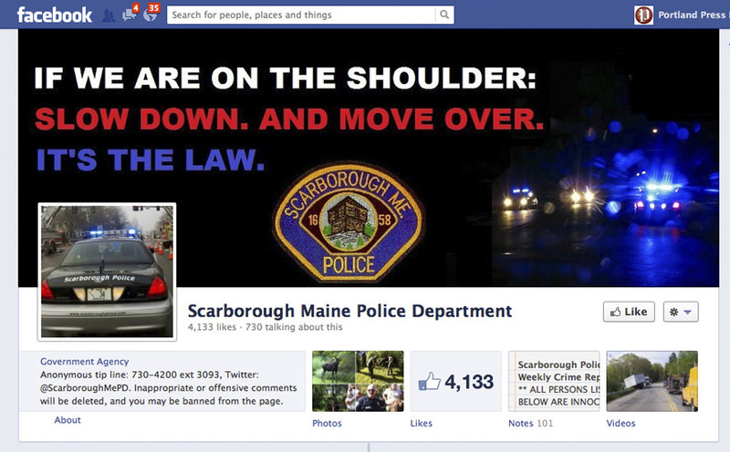 Scarborough, like other police departments, is increasingly relying on Facebook to quickly distribute information and connect with community members who are already plugged in – and constantly logged on – to social media outlets.