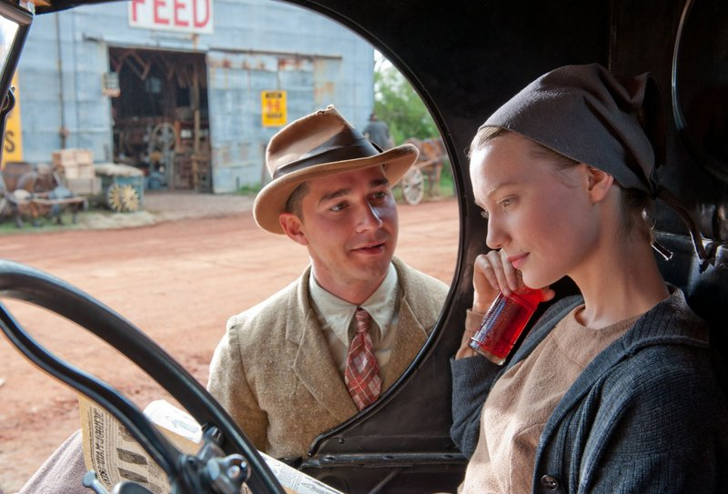 The would-be gangster played by Shia LaBeouf courts the daughter (Mia Wasikowska) of a local Mennonite preacher.