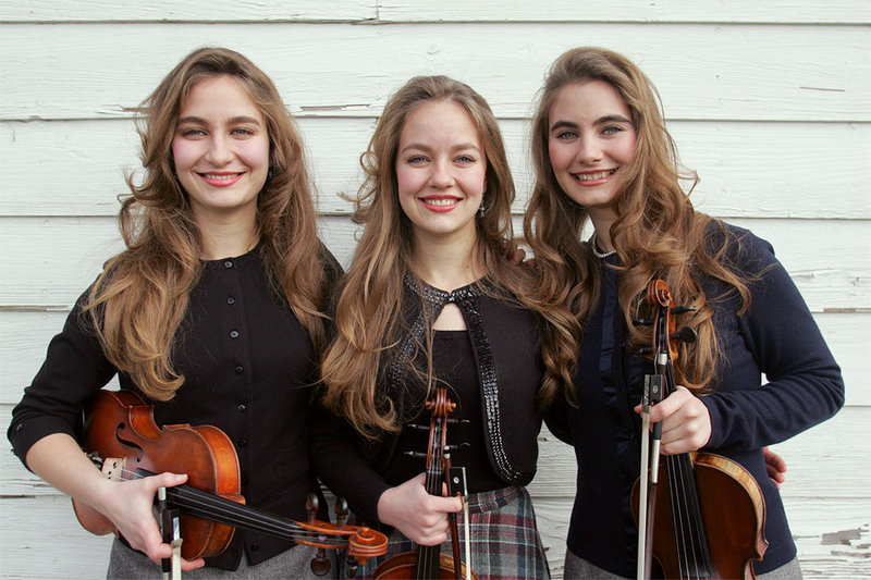 The Quebe Sisters Band brings its fiddles and three-part harmonies to Stone Mountain Arts Center in Brownfield on Saturday.