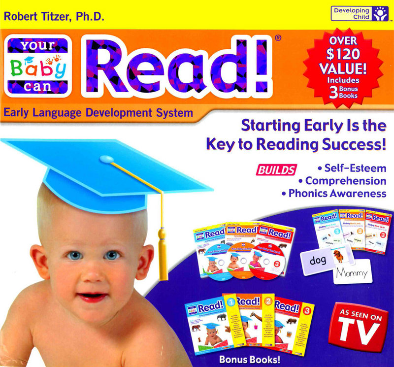 "A handout image provided by the Federal Trade Commission shows an ad for the ""Your Baby Can Read"" program. The FTC has filed false and deceptive advertising charges against the creator, Robert Titzer. The program used videos, flash cards and pop-up books and was advertised heavily on TV and the Internet."