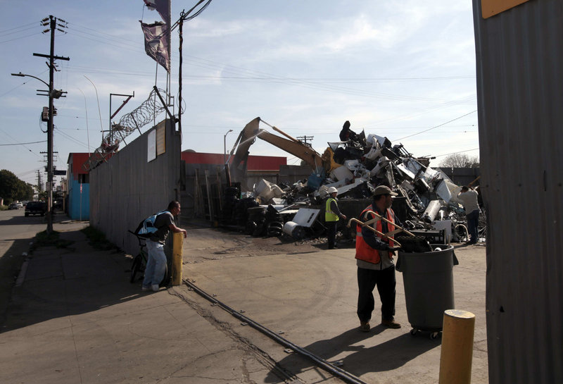 Fueled by rising world prices for metals, the number of scrap recyclers in the Los Angeles area has jumped. In 2007, the Department of Energy estimated that metal theft was costing businesses $1 billion a year nationwide.