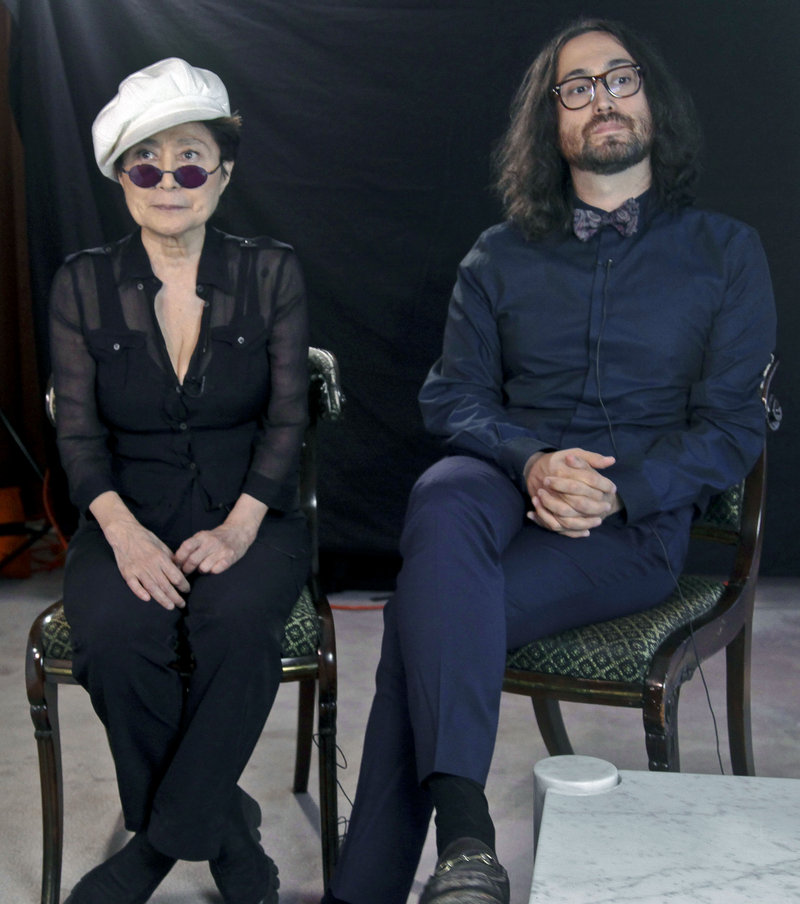 "Yoko Ono and her son, Sean Lennon, shown Wednesday in New York, call fracking ""a danger to New Yorkers."""