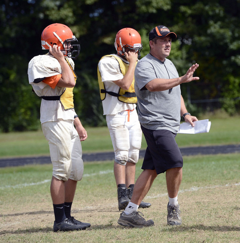 """Scott Descoteaux, the Biddeford coach, says """"We're a Class A school. This is where we should be."""""""