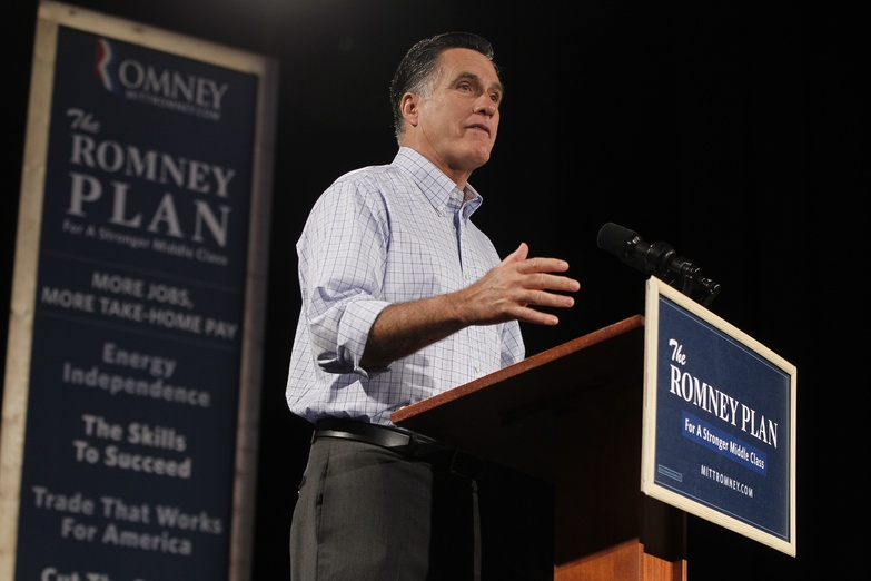 Republican presidential candidate Mitt Romney campaigns Wednesday in Des Moines, Iowa. Romney plans to announce his running mate Saturday morning.