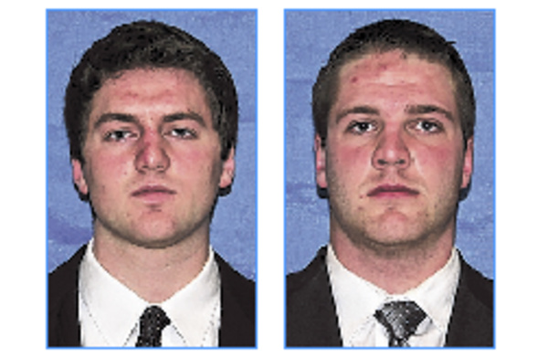Either John Ebeling, left, or Marcus Wasilewski will be the primary quarterback for the Maine Black Bears this fall.