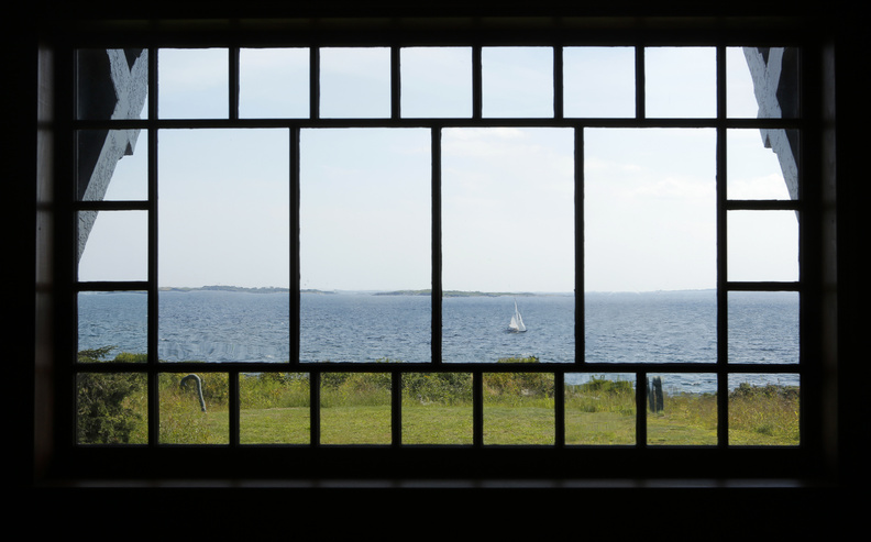 A picture window in the parlor of Winslow Homer's studio at Prouts Neck in Scarborough offers an impressive view of the ocean, an inspiration for the artist in his day.