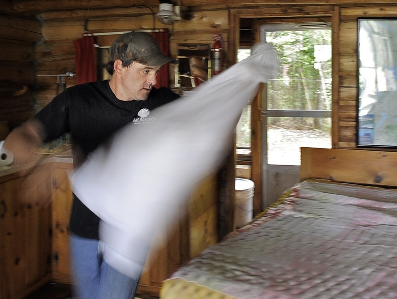 Dana Black can be found changing linens and doing other chores at Spencer Pond Camps ...