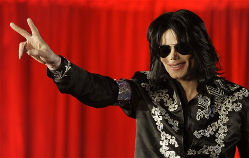 Michael Jackson announces his upcoming London concerts during a March 5, 2009, news conference. The shows' promoters said in emails that he was out of shape and consumed with self-doubt.