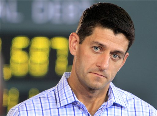 Republican vice presidential candidate Rep. Paul Ryan, R-Wis., listens to a question during a campaign stop Tuesday in Dover, N.H.