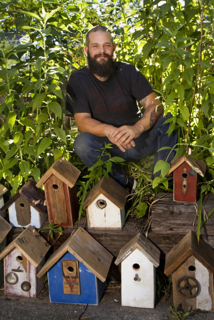 Reuben J. Little says he likes to get pictures of birds flying in and out of his birdhouses from people who've bought them. But he has no problem with customers buying them to put in their own houses.