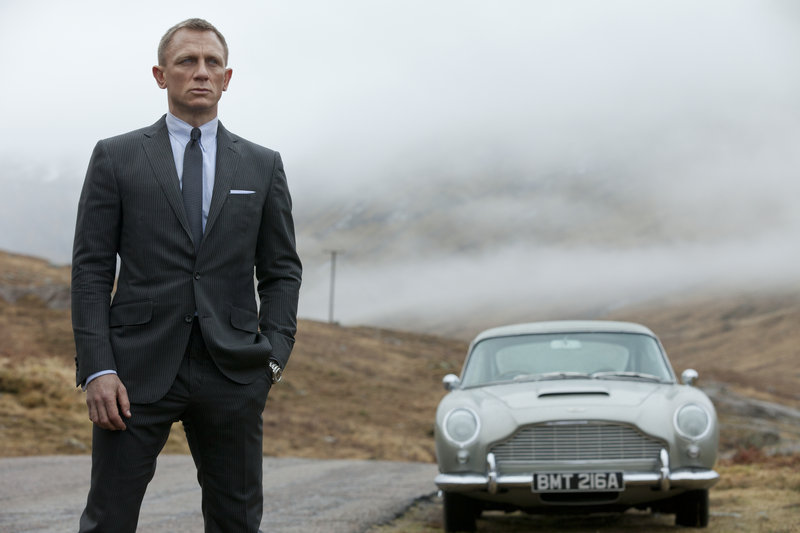 "Daniel Craig reprises his role as 007 in the latest installment of the James Bond franchise, ""Skyfall."""