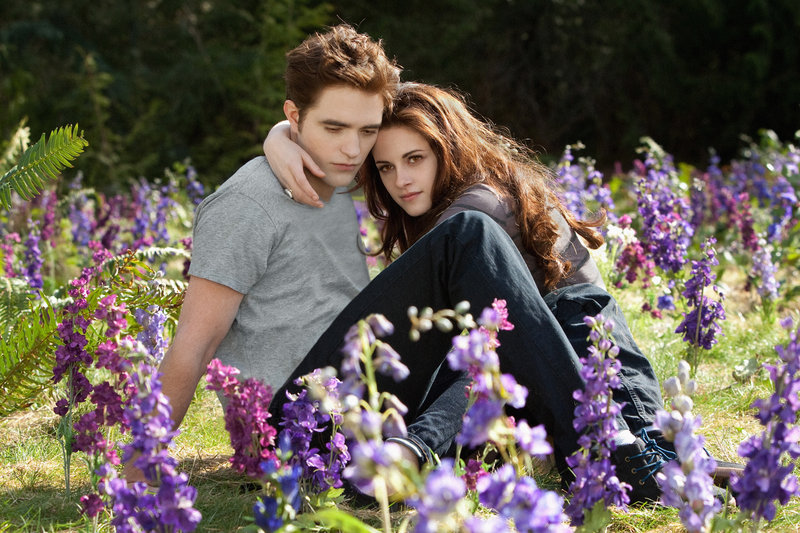"Robert Pattinson and Kristen Stewart in ""The Twilight Saga: Breaking Dawn – Part 2."""