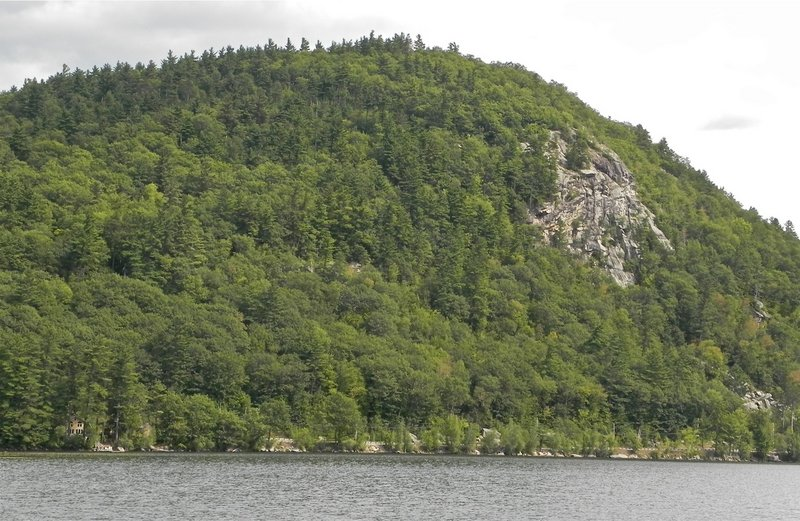Mount Tire'm appears much more conical when viewed from Bear Pond, as opposed to a sighting on nearby Keoka Lake.