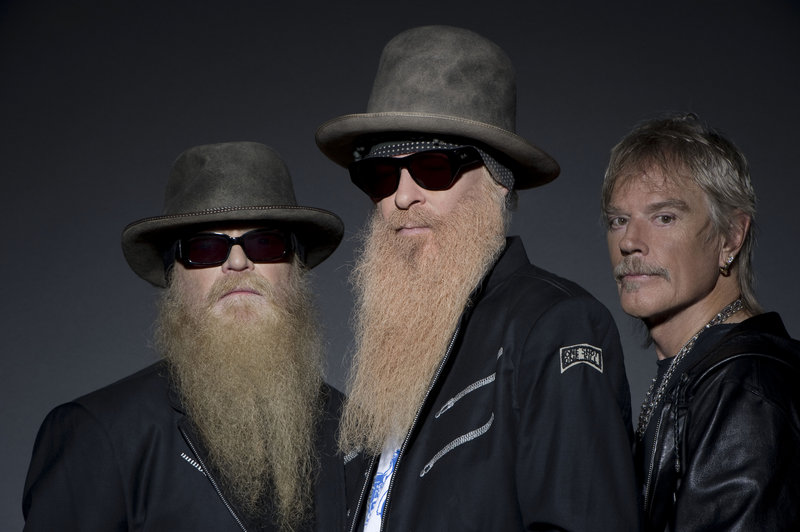 ZZ Top: from left, Dusty Hill, Billy Gibbons and Frank Beard