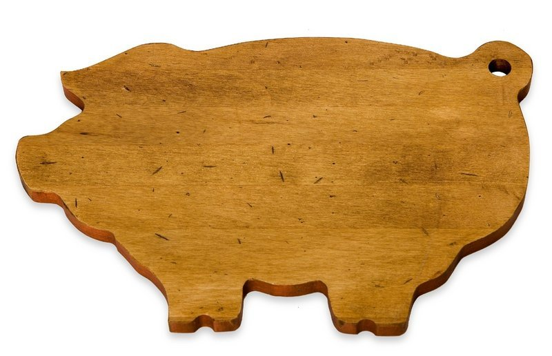 J.K. Adams' fanciful pig board ($30) is made of maple. You can also get a chicken, a cow, a rooster and a fish. They have a food-safe antique stain and retro-colored edges, and are lightly distressed.