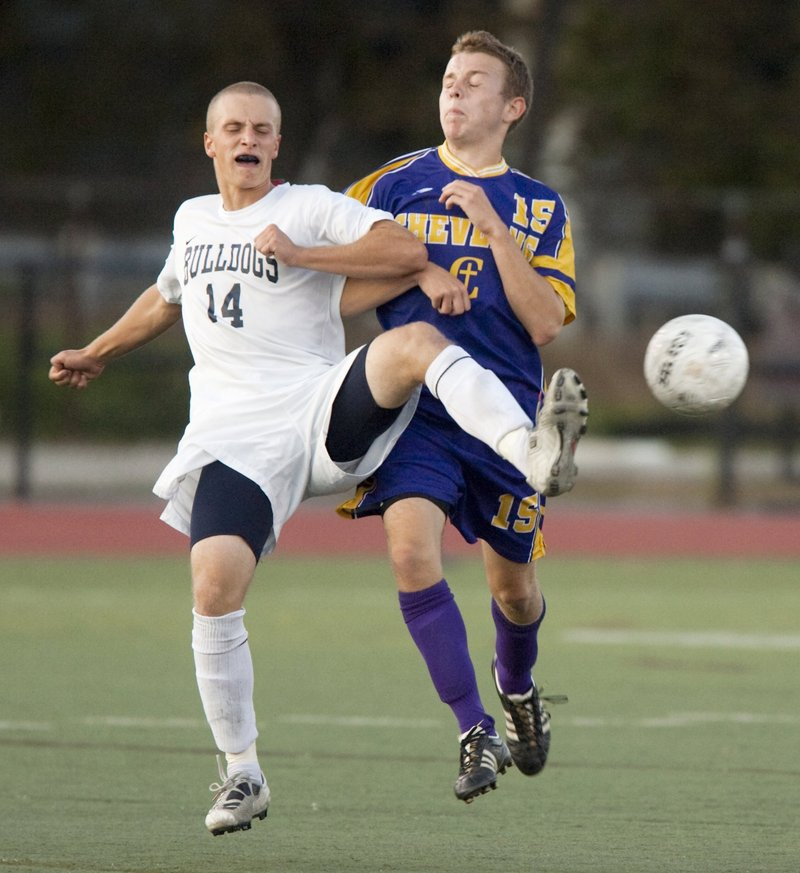 Tim Rovnak, left, was a key player on Portland's Western Class A title team two years ago and led the Bulldogs in scoring last season.