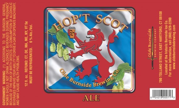 Olde Burnside Brewing Co.'s Hop't Scot is a hoppy, well-balanced cross between a Scottish ale and an IPA.