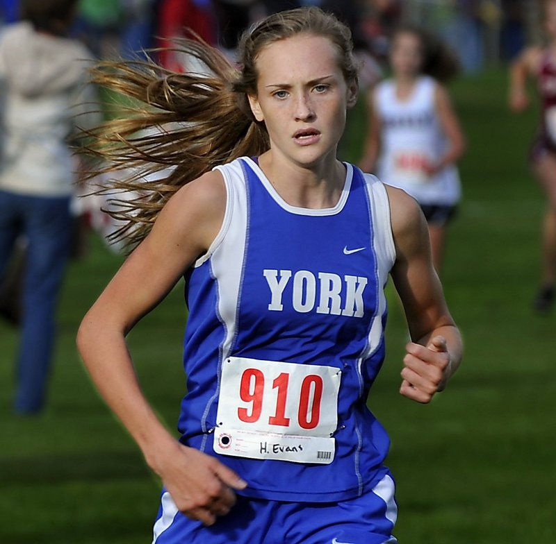 Heather Evans, a junior from York, was second in the Western Maine Conference race last year – an event she won the previous year as a freshman.