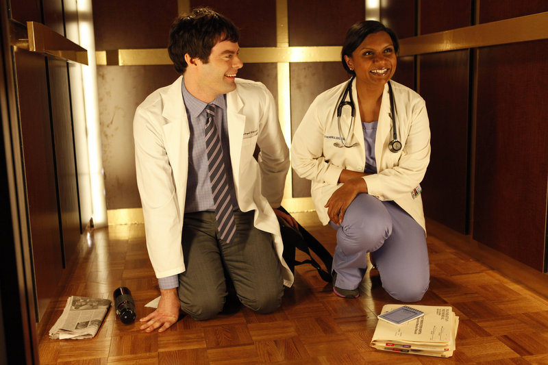 "Mindy Kaling and Bill Hader in the Fox comedy ""The Mindy Project."""