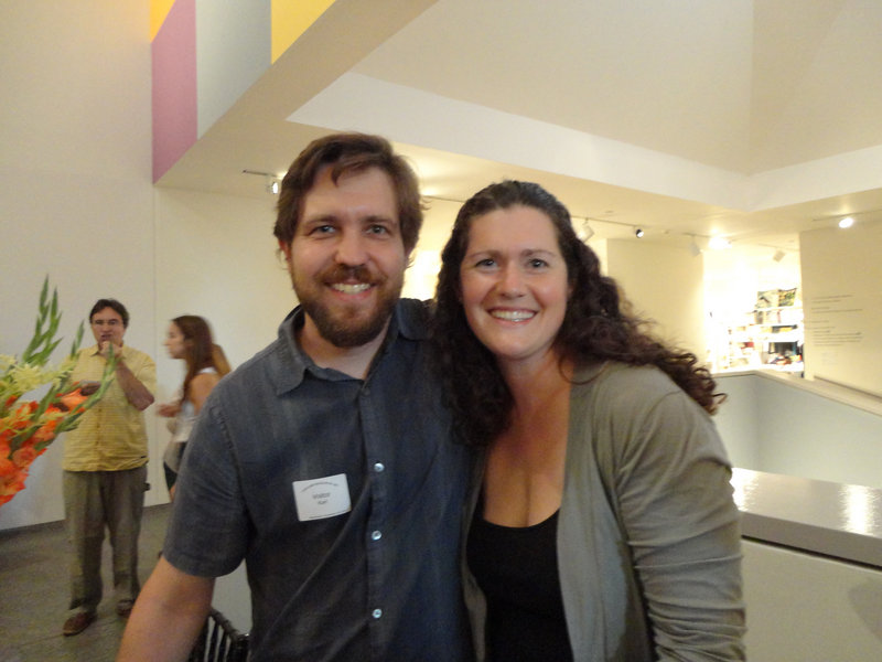 """Karl Schatz and Margaret Hathaway, the husband-and-wife photographer-author team behind """"Portland, Maine Chef's Table,"""" stayed busy at the book-signing table."""