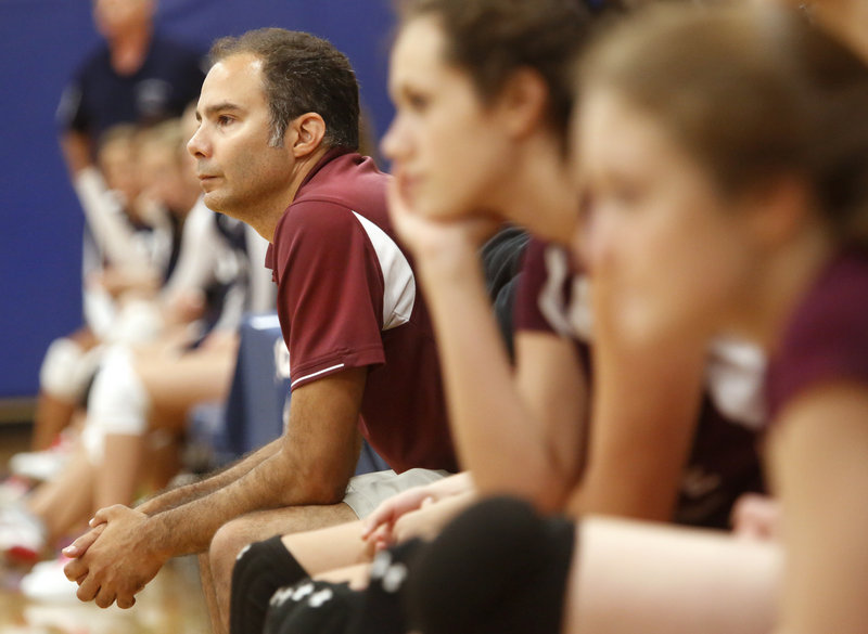 Rob Thompson, the volleyball coach at Cape Elizabeth since the team moved to varsity status in 2008, says cuts to athletic budgets may be keeping the sport from growing faster.
