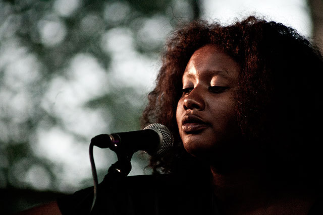 Mirel Wagner is at Bates College in Lewiston on Wednesday.