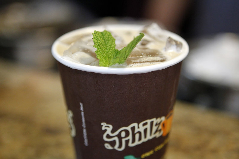 A mint Mojito iced coffee at Philz.