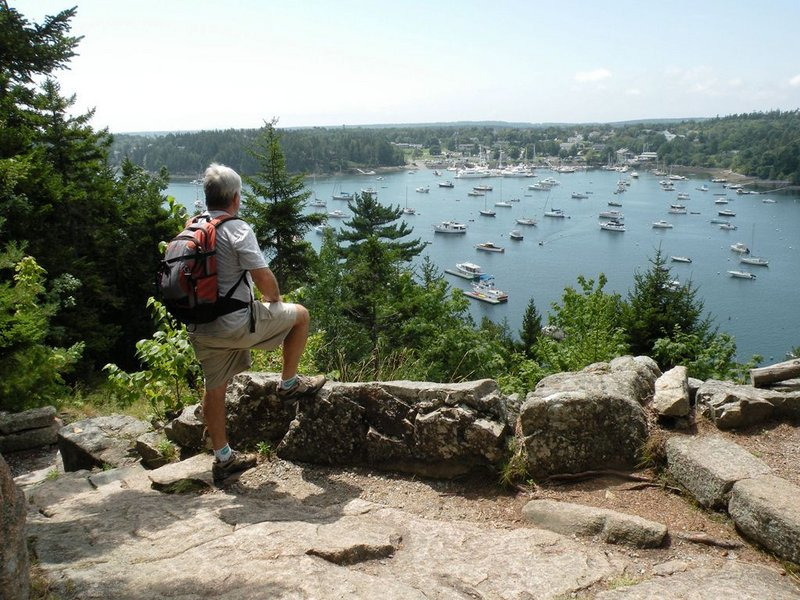 This view of Northeast Harbor, seen from Asticou Terraces Trail, is one of many that can be found along the trails of Eliot Mountain, at the southern end of Acadia National Park.