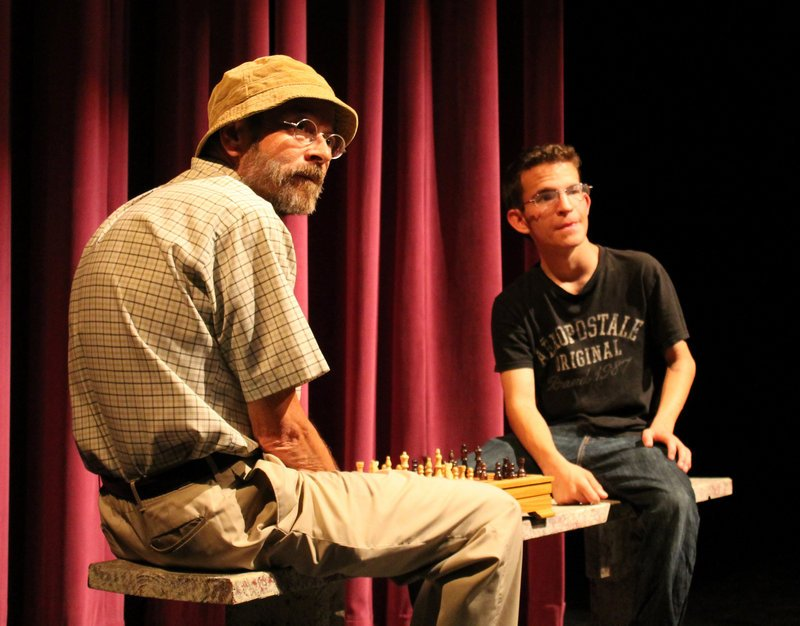 "Herbert Taylor, left, and Ross McEwan in ""Stars"" by Cullen McGough."