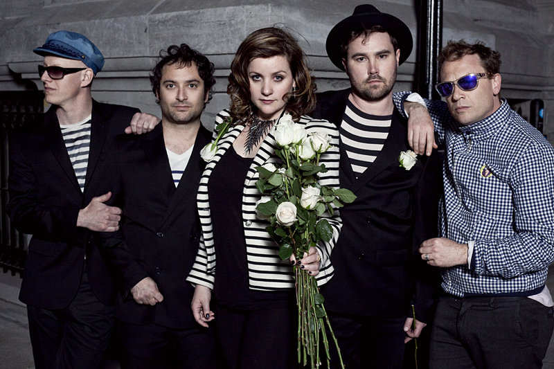 The Canadian indie pop band Stars performs at Port City Music Hall in Portland on Sept. 20.