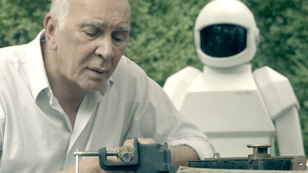 "Frank Langella and the android voiced by Peter Sarsgaard in ""Robot and Frank."""