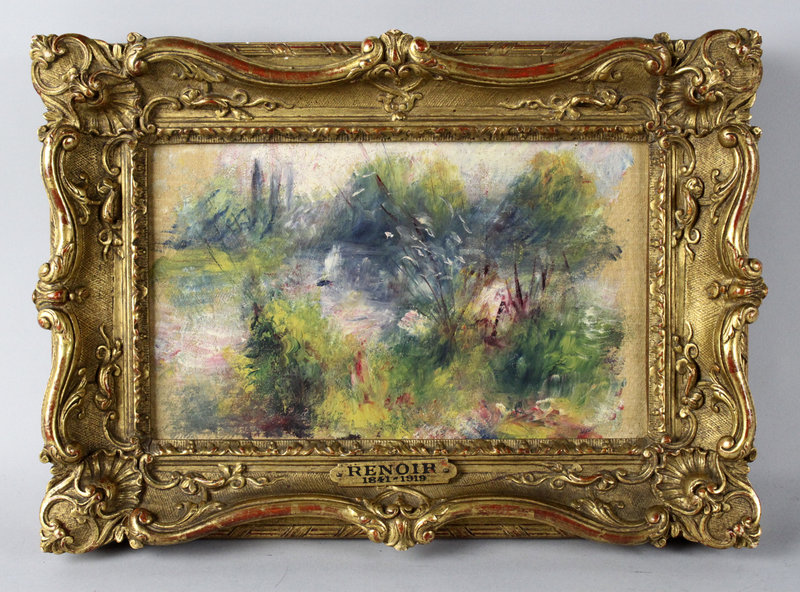 This painting bought at a flea market turned out to be a Renoir original. It dates to about 1879 and measures 6-by-10 inches.